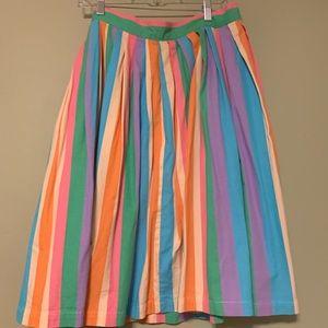 Rainbow canvas skirt